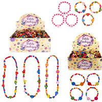 Kids Beaded Necklace Bracelet Beads Girls Jewelry Children Fancy Dress Party Bag