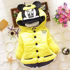 enfants bébé fille dessin animé Mickey Mouse CAPUCHE HIVER CHAUFFAGE manteau