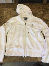 POLO RALPH LAUREN L Men BIG PONY 3 Hoodie Sweat Shirt White Silver Pony Rare