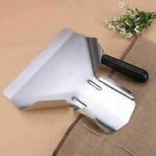 More details for heavy duty stainless steel catering chip french fry bagger scoops right handle