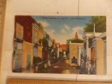 Vintage Linen Oldest Cemetery, St. Louis No.1, New Orleans,La. Postcard