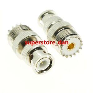 1Pcs UHF Female SO-239 SO239 plug to BNC Male jack RF adapter connector PL259