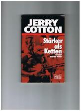 """Jerry Cotton Taschenbuch """"Stärker als Ketten"""", Auflage 1988"""