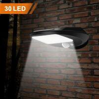 2X Lampada a Muro Solare Sensore Applique Led Luce Lampione Faro Faretto Giardin