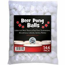 Ping Pong Table Tennis Balls 1 Gross 12 Dozen 144 BULK Wholesale White 38mm