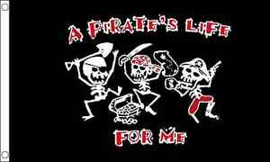 A Pirates Life For Me 5'x3' Flag Skull and Crossbones