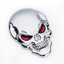 Totenkopf Schädel Skull 3D Silikon Logo Aufkleber 2 Stk. Auto KFZ 5x3,5 cm