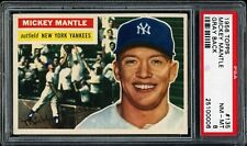 MICKEY MANTLE 1956 TOPPS YANKEES CARD #135 PSA 8  *VERY CLEAN*