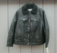 """Ladies Levis Jacket Faux Leather Motorcycle Jacket Extra Large 44"""" Chest BNWTs"""
