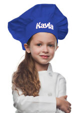 Royal Blue Personalized Kids Chef Hat made from High Quality Cotton/Twill Fabric