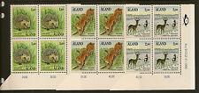 ALAND : 1991 Mammals SG 46-8 unmounted mint corner blocks of four