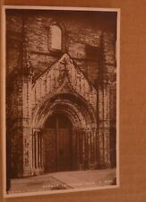 Unposted Postcard Durham Cathedral, North side Door