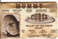 the Mummy VALLEY OF THE KINGS Boris Karloff collectorcard Drivers License