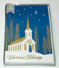 BOX 12 Inspirational CHRISTMAS Greeting Cards with Christian Verse, Religious