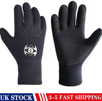 UK 3MM Adult Neoprene Wetsuit Gloves Diving Swim Scuba Surf Snorkeling Coldproof