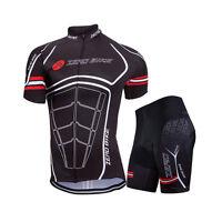 Men Short Sleeve Jersey Set Bike Cycling Riding Wear Tops Shirt & Shorts Outfits
