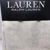 Ralph Lauren 'BOUCLE LINEN' 2 Sheer Window Panels 54 x 96 Neutral Beige