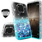 For Huawei Mate 20 Pro Shockproof Luxury Liquid Diamond Glitter Phone Case Cover