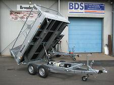 NEW Debon 2600 kg 3-way Electric Tipper Trailer Aluminium Sides Spare Wheel