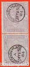 """SG. 175. K9. MB NB."""""""" 2/6 Lila (PAPEL AZULADO). un muy fino 15th puede 1884 Cds"""