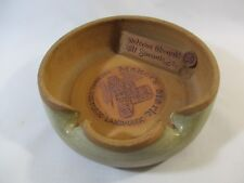 1982 Handcrafted Maker's Mark Distillery Bourbon Stoneware Ashtray/Dish Signed