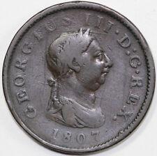 1807 George III Great Britain Half Penny