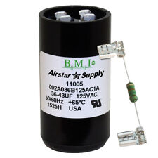 36-43 uF x 125 VAC BMI # 092A036B125AC1A Motor Start AC Capacitor with Resistor