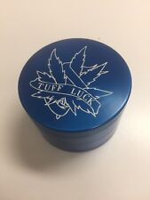 Tobacco Herb Spice Grinder 4piece Herbal Alloy metal 2.5 inch Blue Tuff Luck