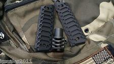 "1911 .45acp BLACK PREDATOR Muzzle Brake & ""Cobra"" Grips COMBO COMPENSATOR"