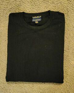 CLUB ROOM Mens Crew Neck 100% CASHMERE Sweater Size Medium, Black