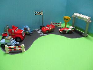 ( GB19 / 3 ) LEGO Duplo Cars Autos Set Lightening McQueen Mack Guido Disney