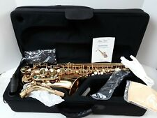 Jean Paul USA AS-400 Student Alto Saxophone-Key of Eb With Case, Cloth & Grease