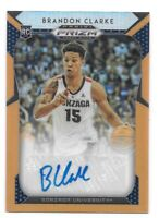 Brandon Clarke RC Auto #d /125 2019-20 Prizm Draft Neon Orange Memphis Grizzlies