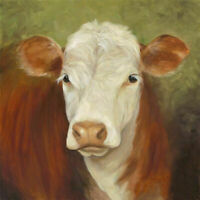 ZOPT1319 100% hand painted animal cattle ox oil painting art on canvas