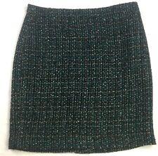 Ann Taylor Loft Outlet Womens Skirt 12 Black Blue Tweed