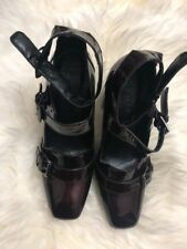 NEXT Signature Patent Leather High Heel Strappy Sandals Shoes SIze 6 (39)