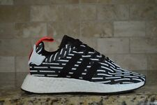BRAND NEW Adidas NMD R2 Primeknit Boost Core Black White [BB2951] Size 5.5