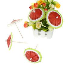 50pcs Watermelon Umbrella Cake Topper Picks Cocktail Parasols Bevande Picks BERX