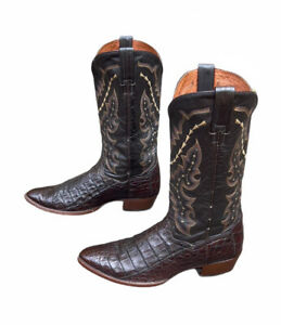Dan Post Caiman Exotic Mens Cowboy Western Boots Size 11 D