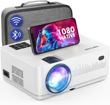 WiFi Bluetooth Projector Native 1080P Projector Dbpower Home Movie Projector