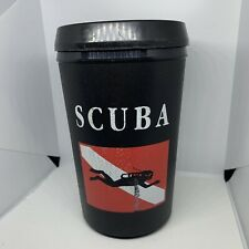 Vintage Scuba Diver Plastic Travel Coffee Mug Tea Cup Swimming Diving