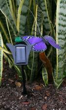 Solar Powered Garden Decor Dancing Flickering Purple Butterfly Stake