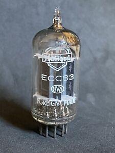 RARE STRONG EARLY MULLARD ECC83 LONG PLATE SQUARE GETTER mCN 1954
