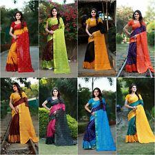 Indian Saree Bollywood Designer Pakistani Woven Art Silk Saree Blouse New SC