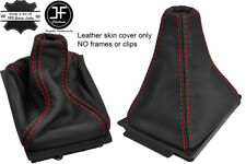 RED STITCH TOP GRAIN REAL LEATHER GEAR GAITER FITS AUDI 80 & CABRIO B4 91-96