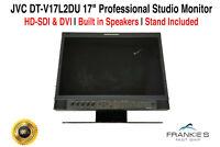 "JVC DT-V17L2DU 17"" Professional Studio Monitor 1440 x 900 HD-SDI DVI With Stand"