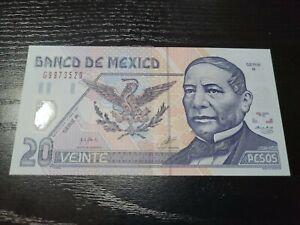 🇲🇽 Mexico 20 Pesos P-116b 17 May 2001 Serie  R  Banknote 060621-17