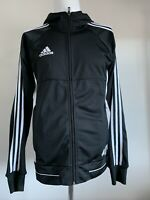 Adidas Tango Black White Hoodie Size S Small CD1311 12/16 Full Zip Casual Top