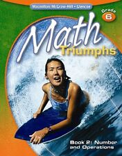 Math Triumphs, Grade 6, Student Study Guide, Book 2: Number and Operations (MATH