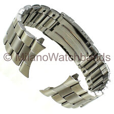 26mm deBeer Stainless Steel Curved/Straight Ends Big Oyster Link Mens Band LM291